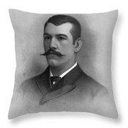 John L. Sullivan Throw Pillow