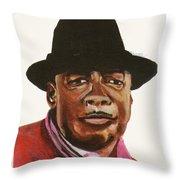 John Lee Hooker Throw Pillow by Emmanuel Baliyanga