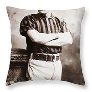 John M. Ward (1860-1925) Throw Pillow