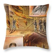 John W.booth (1835-1865) Throw Pillow