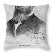 John Wesley Powell Throw Pillow