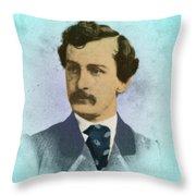John Wilkes Booth, Assassin Throw Pillow