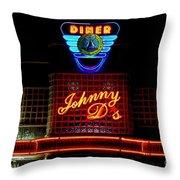 Johnny D's Throw Pillow