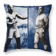 Johnson Vs. Jeffries, 1910 Throw Pillow