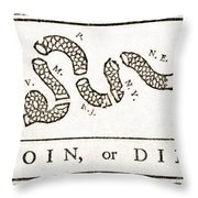 Join Or Die French And Indian War Throw Pillow by Photo Researchers