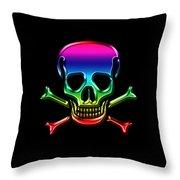 Jolly Roger Rainbow Throw Pillow