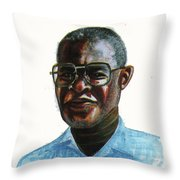 Joseph Bessala Throw Pillow
