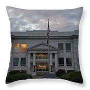 Josephine County Court House Throw Pillow