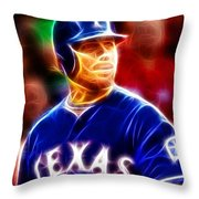 Josh Hamilton Magical Throw Pillow by Paul Van Scott