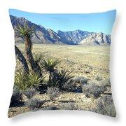 Joshua Tree And Mount Wilson Throw Pillow