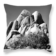 Joshua Tree Center Bw Throw Pillow
