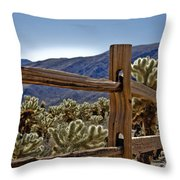Joshua Tree Cholla Garden Throw Pillow