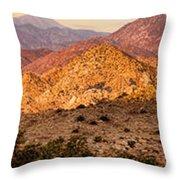 Joshua Tree Sunrise Panorama Throw Pillow