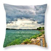 Journey Back From The Bridge Throw Pillow