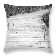 Journey Of Soles Throw Pillow by Luke Moore