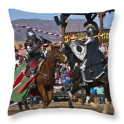 Joust To The End... Throw Pillow