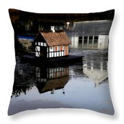 Joy  By Lake Throw Pillow
