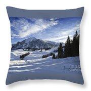 Joyeux Noel Austria Europe Throw Pillow by Sabine Jacobs