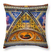 Jp Morgan Library Ceiling Detail Throw Pillow