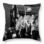 Jrotc Carrying Flag In The Parade Throw Pillow