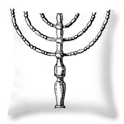 Judaism: Menorah Throw Pillow