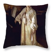Judith Gautier Throw Pillow by John Singer Sargent