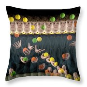 Juggler Throw Pillow