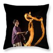 Juggling Fire Throw Pillow