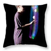 Juggling Light-up Balls Throw Pillow