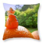Juggling Oranges Throw Pillow