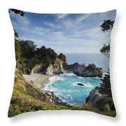 Julia Pfeifer Falls Throw Pillow by Mike Raabe
