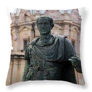 Julius Caesar Throw Pillow