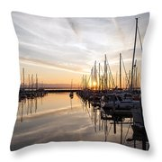 July Evening In The Marina Throw Pillow
