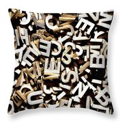 Jumbled Letters Throw Pillow
