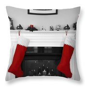 Jumbo Red Stockings Throw Pillow