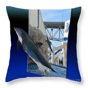 Jumping For You Throw Pillow