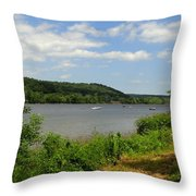 June Along The Connecticut River Throw Pillow