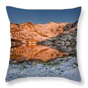 June Snowfall At Angel Lake Throw Pillow