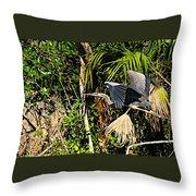 Jungle Flight Throw Pillow