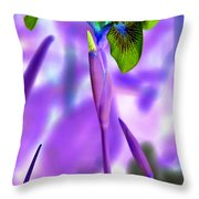 Jungle Iris Throw Pillow