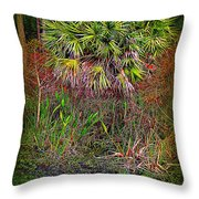 Jungle Palm Throw Pillow