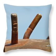 Junkyard Macro No. 11 Throw Pillow