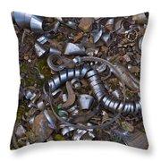 Junkyard Macro No. 16 Throw Pillow