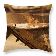 Junkyard Macro No. 20 Throw Pillow