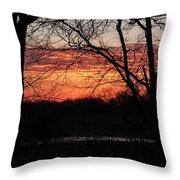 Just A Little Bit Higher -- Sunrise Throw Pillow