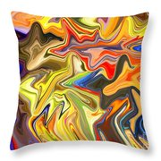 Just Abstract Viii Throw Pillow