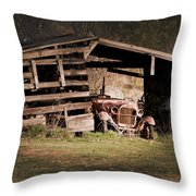 Just An Old Car Tucked Away Throw Pillow
