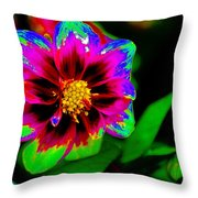 Just Another Regular Flower In The Garden Throw Pillow