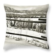 Just Beyond The Fence 1 Throw Pillow