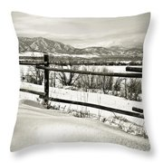 Just Beyond The Fence 2 Throw Pillow